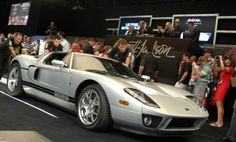 Awesome Ford GT we photographed last weekend at #barrettjackson #auction in Palm Beach. It sold for $220,000, which is rare that a car sells for more than it's original price, in this case $150,000. This was a collector car coming out of the gate 2005.  #ford #fordgt #gt #supercarsunday #supercar Barrett Jackson Auction, Collector Cars, Ford Gt, Supercar, Palm Beach, Cool Cars, Gate, Classic Cars, The Originals