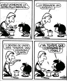 Mafalda como siempre ocurrente Sarcastic Quotes, Funny Quotes, Mafalda Quotes, Bruce Lee Quotes, Argentine, Love Deeply, Humor Grafico, Words To Describe, Calvin And Hobbes