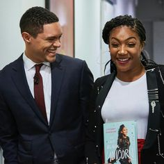 My WCW Tiffany Haddish! There are human beings who have the ability to walk into a room and light it up with not just their personality but also their genuine positive energy. Tiffany is one of those people- A superstar both on and off screen. Tiffany Haddish, Trevor Noah, Celebs, Celebrities, True Beauty, Future Husband, Comedians, Superstar, Actors & Actresses