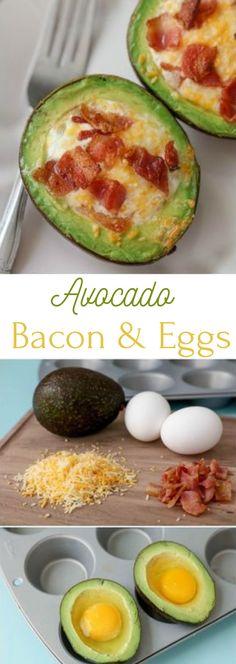 AVOCADO BACON AND EGGS #egg #healthyrecipe