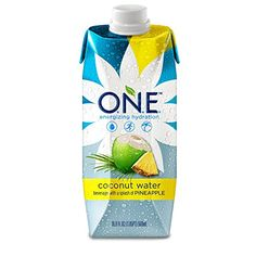O.N.E. Coconut Water with a Splash of Pineapple, 16.9 Ounce (Pack of 12) >>> Click on the image for additional details.