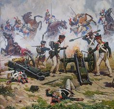 French cuirassiers reach the Russian cannon at Borodino, Russian Campaign, American Revolutionary War, American Civil War, Military Art, Military History, Battle Of Balaclava, Diorama, Battle Of Waterloo, Seven Years' War, War Image