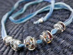 Artbeads.com idea: At The Blue Note Necklace - I spot Dusk Blue and Monaco Blue