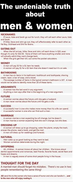 LOL The Differences Between Men And Women