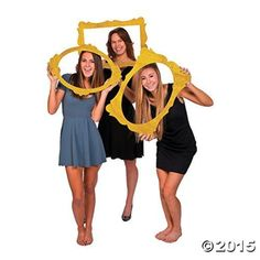 Capture the fun by having guests frame themselves within these Gold Glitter Picture Frame ...