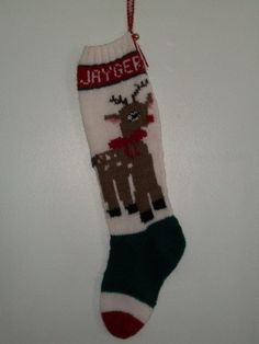 Custom Order Rudolph Hand Knitted Christmas by knottyneedleworker, $64.95