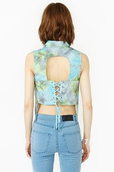 Orion Laced Blouse in Clothes Tops at Nasty Gal