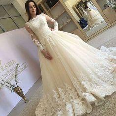2018 Ivory Lace Bridal Gown Wedding Dress Custom Size 4-6-8-10-12-14-16-18-20++