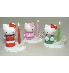 Bougie Hello Kitty 8 cm Anniversaire Hello Kitty, Decoration, Children, Disposable Tableware, Decor, Young Children, Boys, Kids, Decorations