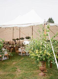 Chic Coastal Wedding in Maryland, Sailcloth Tent Reception Space | Brides.com