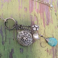 Aromatherapy Essential Oil Diffuser Locket Necklace by Magnoliakottage, $18.00 USD