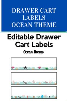 Drawer Cart, Ocean Themes, School Resources, Classroom Organization, Getting Organized, Back To School, Texts, Drawers, Education
