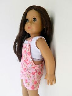 American Girl Doll Clothes Pink Floral Cotton by 18Boutique