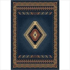 "Manhattan Tucson Light Blue Southwestern Rug Size: 1'11"" x 7'4"" Runner $29.95"