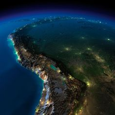 Bolivia from Space. You get to see the Titicaca Lake and further below the Uyuni Salt Flats. La Paz is the bright light on the Southwest corner of Titicaca. We love this pic!