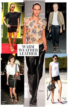 Warm weather leather #black #style #fashion
