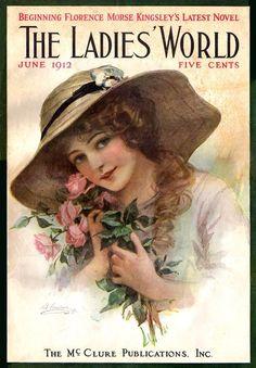 June 1912 cover for The Ladies' World ~ LÁMINAS VINTAGE,ANTIGUAS,RETRO Y POR EL ESTILO.... (pág. 691) | Aprender manualidades es facilisimo.com