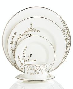 Kate Spade New York Dinnerware, Gardener Street Platinum Collection