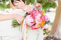80′s pop themed beach wedding: Melissa + Ryan