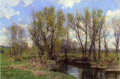 "Hugh Bolton Jones (1848-1927) ""Early spring near Sheffield, Massachusetts"""