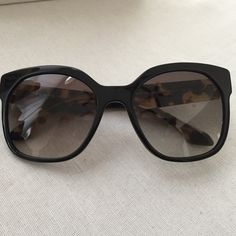 Prada Oversized Cat Eye Sunglasses Barley worn! Pravda oversized Cat Eye Sunglasses from Bloomingdales. Case and box included. Prada Accessories Sunglasses