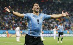 DOPPIETTA SUAREZ, L'INGHILTERRA E' QUASI FUORI #mondiali2014 #inghilterra #uruguay