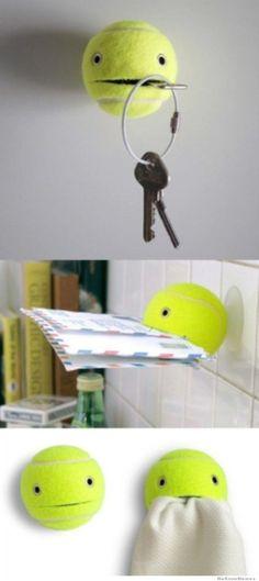 Handig hulpje in de gang, zodat je je sleutels of de post niet vergeet als je het huis uit gaat.