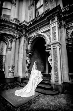 Italianate architecture, with our beautiful bride. Shot on location on her wedding day, at La Bassa.