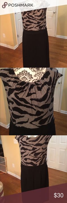 Soft & comfy dress with alittle stretch. NWOT  XL This dress feels so comfortable. Loft, size XL. NWOT Loft Dresses