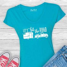 Let's Hit the Road - Vintage Trailer Ladies Tee