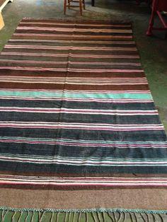 Large Vintage Moroccan Blanket/Rug by Artofvintagesouk on Etsy