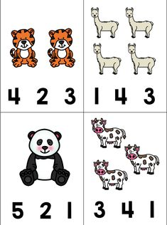 For this simple activity, animal icons are displayed in groups from The student must Animal Worksheets, Kindergarten Math Worksheets, Maths Puzzles, Preschool Learning, Worksheets For Kids, Toddler Activities, Preschool Activities, Teaching, Preschool Kindergarten