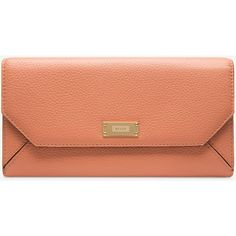 Bally LINNEY SUZY Women's grained bovine continental leather wallet in... ($395) ❤ liked on Polyvore featuring bags, wallets, pink wallet, zippered coin pouch, leather zip wallet, leather coin pouch and coin pouch
