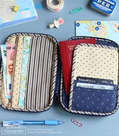 Pouches, Zip Around Wallet, Sewing Patterns, Lunch Box, Purse, Bags, Travel, Crafting, Bag
