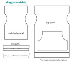 Finding Pins and Needles: Brrr... ruff!. repurpose an old sweatshirt to a doggie top