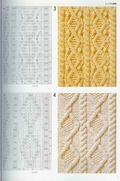 "Photo from album ""Узоры спицами on Yandex. Knitting Stiches, Cable Knitting, Knitting Charts, Easy Knitting, Crochet Stitches, Knitting Patterns, Crochet Patterns, Loom Patterns, Stitch Patterns"