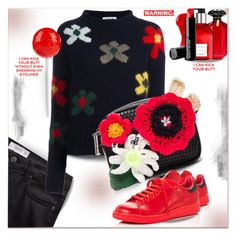 """Crewneck Sweater"" by dragananovcic ❤ liked on Polyvore featuring Victoria's Secret, Hermès, Burberry, Beauty Is Life, MANGO, Dondup, Christopher Kane and adidas"