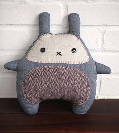 Bunny Plush Toy - Stuffed bunny - toy - Grey bunny rabbit soft toy - cushion -  READY TO SHIP. $36.00, via Etsy.