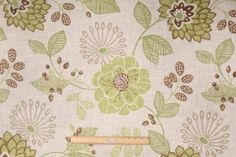 12 Yards Richloom Ruthie Printed Linen Blend Drapery Fabric in Spring