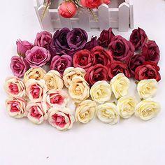 Artificial Flower Silk Rose Wedding Home decoration DIY W...