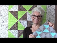Half Square Triangles are very versatile, one little change and you get a whole new quilt:) Quilting Confections free block of the month https://www.quilting...