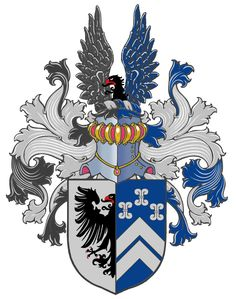 This is the full coat of arms of the family van Niekerk. (Holland)