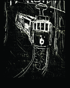 EL.F ŞİMŞEK woodcut  Beyoğlu 2005