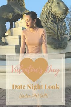 Budget friendly date night look for Valentine's Day! Total look under $40.00!!! Check out the blog for details. #motherhood #mommy #sahm #parenting #mom #stayathomemom #fashion #fashionista #stylish #stylishmom #valentinesday #valentines