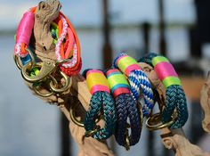 knot:ical: photos.  Neon nautical rope bracelets by knot:ical. Neon trend.