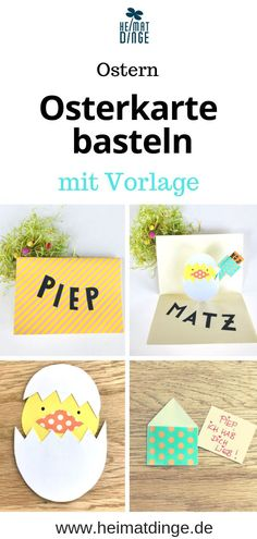 Easter crafts with children: pop-up card with hidden Easter greeting – - Deutsch Ideen 2020 Craft Stick Crafts, Easy Crafts, Pop Up, Presents For Grandma, Easter Presents, Easter Crafts For Kids, Children Crafts, Boyfriend Crafts, Easter Bunny Decorations