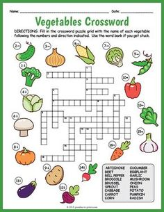 Printable Crossword Puzzles for Kids Learning English For Kids, English Lessons For Kids, English Worksheets For Kids, Kids English, Teaching English, Learn English, English Activities For Kids, English Class, Kids Crossword Puzzles