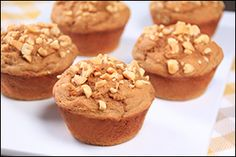 """PEANUT BUTTER LOVERS!! These are healthy, MUST-TRY recipes: Peanut Butter Banana Protein Muffins & Apple & PB """"Nachos!"""""""