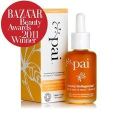 Rosehip BioRegenerate Fruit & Seed Oil Blend - Harper's Bazaar's 'Best Organic Miracle Worker'. This multi-tasking oil can be used on the face or body to promote a clear, supple and blemish-free complexion. Proven to improve scars, stretch marks, fine lines, sun damage and uneven skin tone