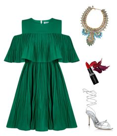 """""""Wild thoughts"""" by alexiouq ❤ liked on Polyvore featuring Jovonna, Manolo Blahnik, Chopard and Smashbox"""